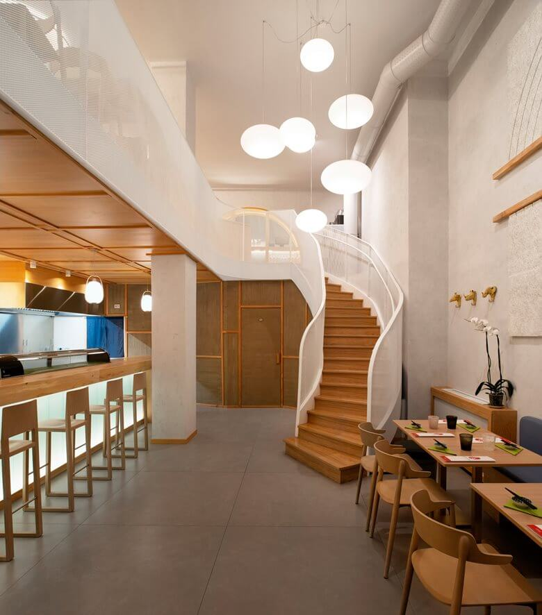 Curved Wooden Staircase Design