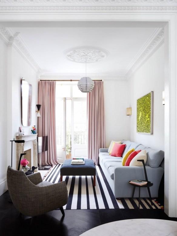 Tiny House Living Room With Sofa Setup
