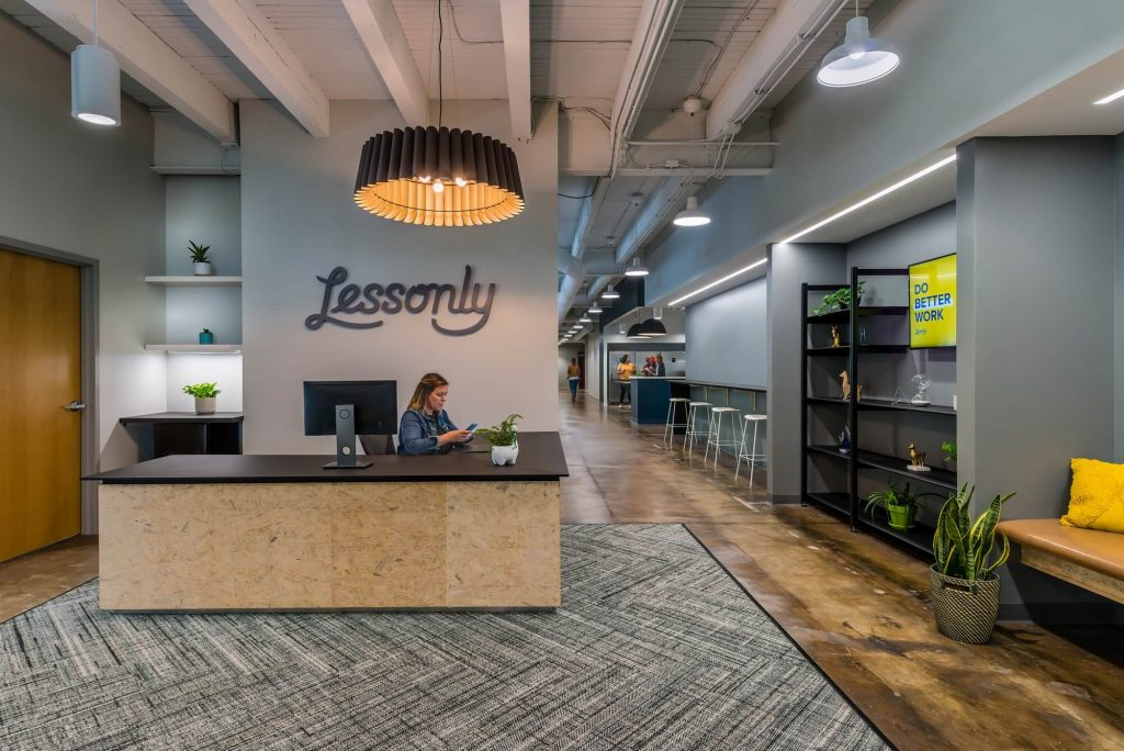 Lessonly Startup Offices Interior Design | Office Space design