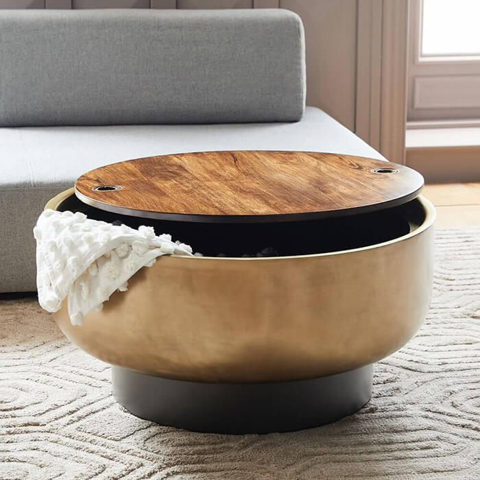 Drawer-Round-Coffee-Table-For-Living-Room