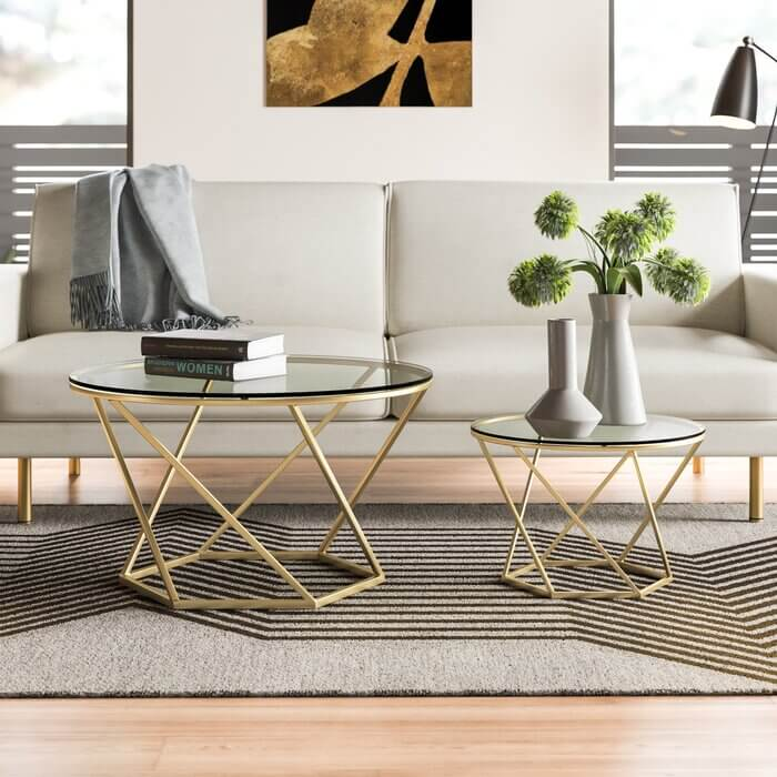Glass-Metal-Frame-Round-Coffee-Table-For-Living-Room