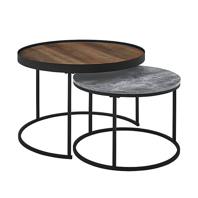 Iron-Metal-Frame-Round-Coffee-Table-For-Living-Room