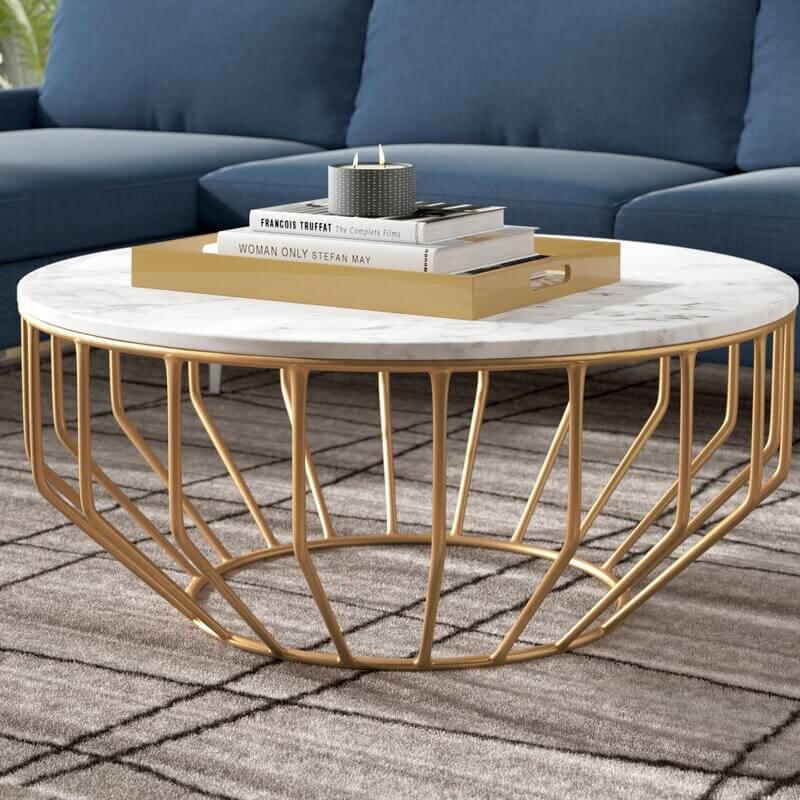 Marbel-Top-Round-Coffee-Table-For-Living-Room