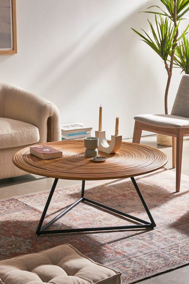 Wooden-Top-Round-Coffee-Table-For-Living-Room