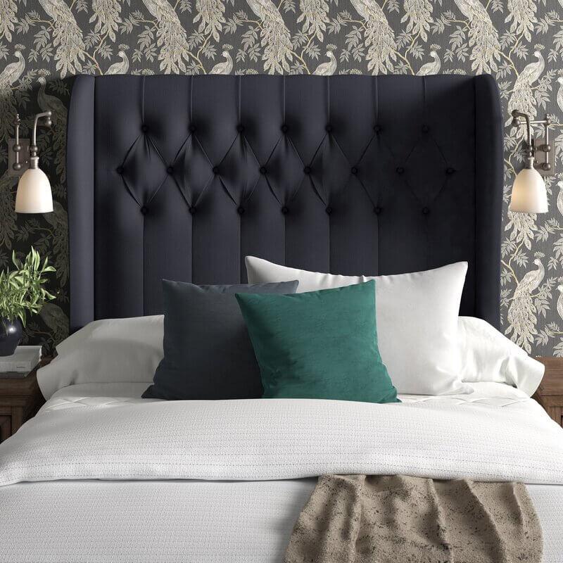 Tufted headboard bedroom idea