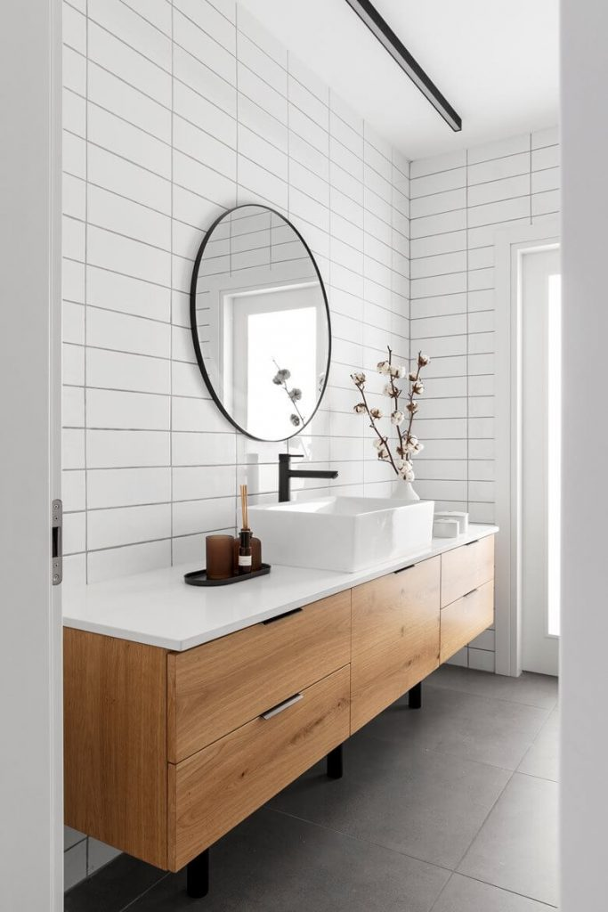 White Apartment Decor Bathroom