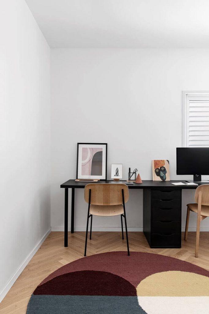 White Apartment Decor Study Area
