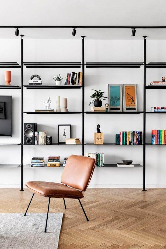 White Apartment Decor TV Wall Mounted Rack