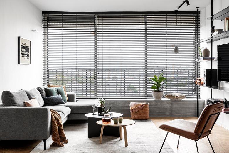 White Apartment Decor Vertical Living Room Area